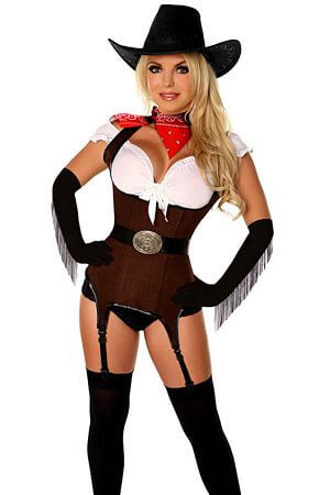 Queen Ride Em Cowgirl Corset Costume