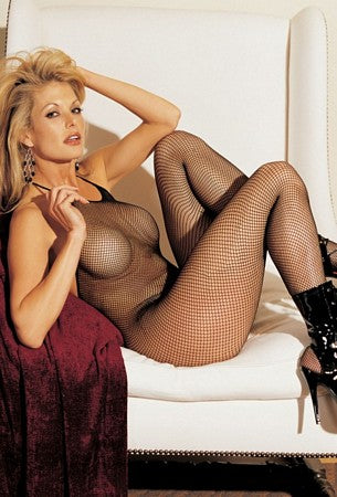 Fishnet, Halter Tie, Body Stocking, Open Front