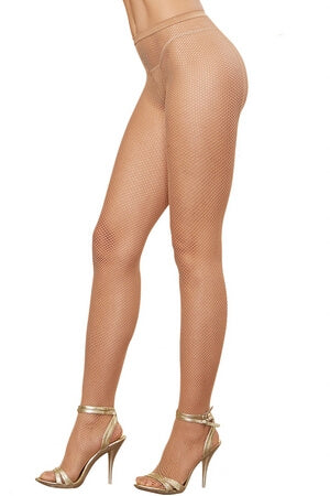Nude Fishnet Backseam Pantyhose