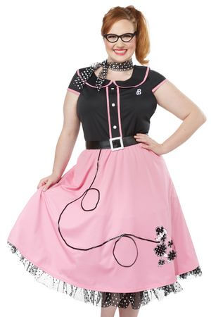 Plus 50's Sweetheart Costume