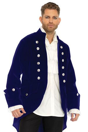 Mens Long Velvet Coat