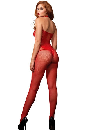 Red Break Free Bodystocking