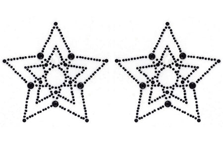 Black Crystal Star Pasties