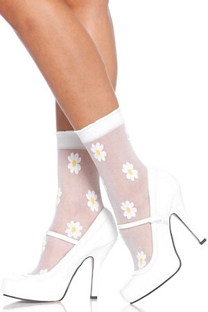 Sheer Daisy Anklets
