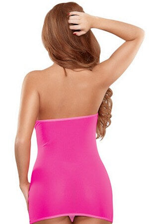 Seamless Pink Tube Dress