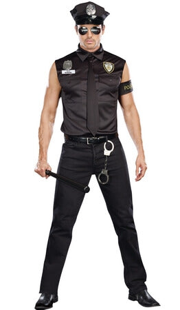 Dirty Gent Cop Costume ...  sc 1 st  Lingerie Diva : cute cop halloween costumes  - Germanpascual.Com