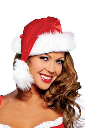 f34a965be2769 Faux Fur Santa Hat with Free Shipping and Low Prices. – LingerieDiva