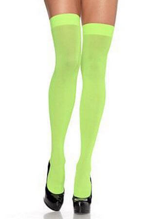 Green Nylon Thigh Highs