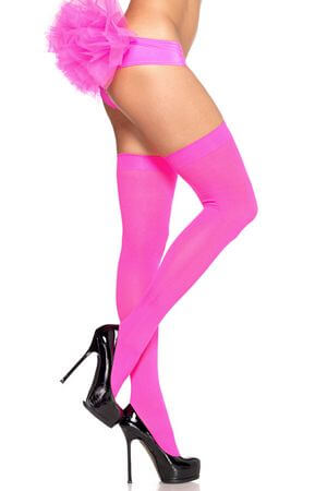 Pnk Nylon Thigh Highs