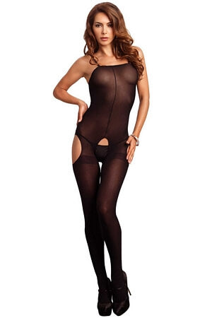 Opaque Suspender Bodystocking.
