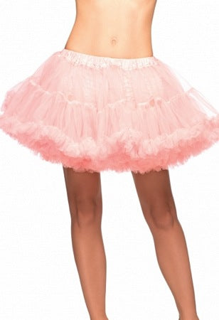 White and Light Pink Layered Striped Petticoat