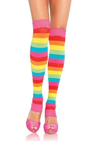 Ravishing Rainbow Leg Warmers