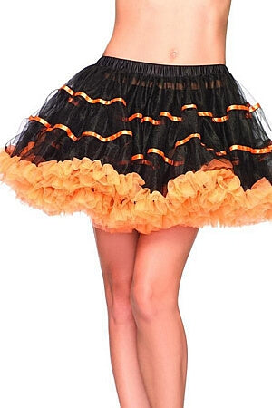 Orange and Black Layered Striped Petticoat