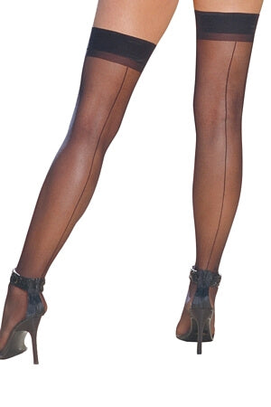 Sheer Thigh High with Backseam