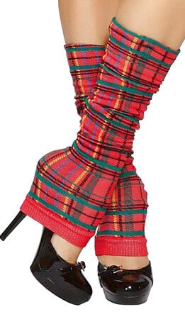 Pretty In Plaid Leg Warmers