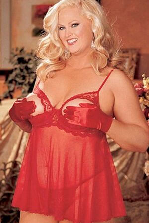 Red Diva Open Cup Babydoll