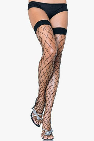 Classic Fence Net Thigh Highs