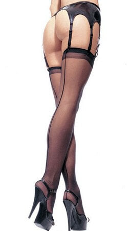 Sheer Stockings W/ Backseam