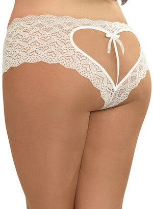 Queen White Wedding Open Crotch Panty