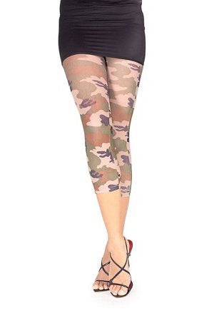Women's Camouflage Footless Tights