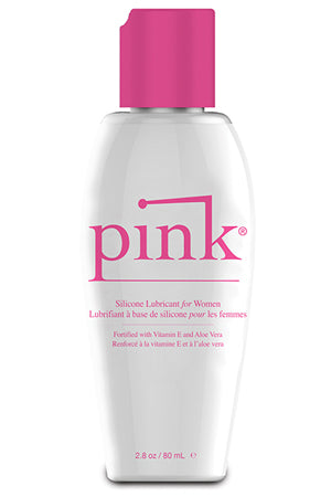 Pink Silicone Lube - 2.8 oz Flip Top Bottle
