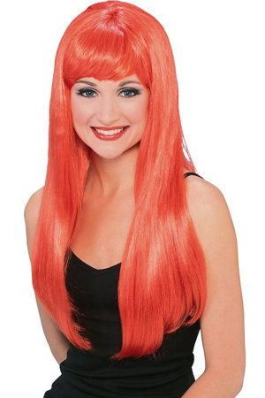 Glamour Red Long Wig