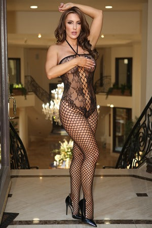Lace And Fence Net Bodystocking