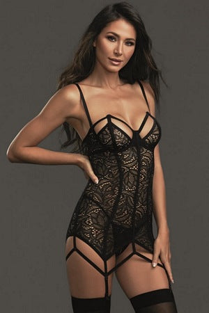 Black Widow Chemise Set