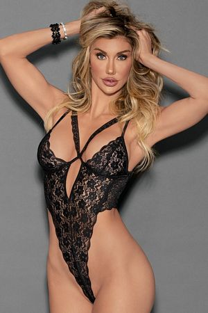 Double Strap Lace Teddy