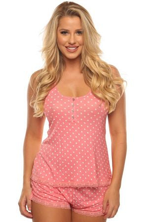 Pink Dot PJ Short Set