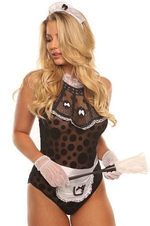 Naughty French Maid 4 Pc Set Lingeriediva