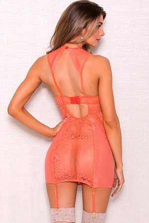 Coral Star Lace Chemise