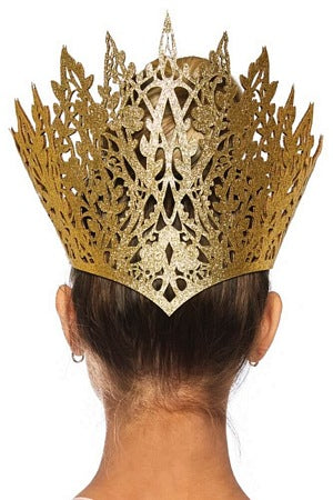Glitter Die Cut Gold Crown