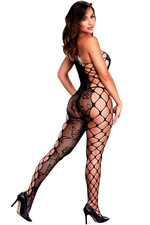 Asymmetric Floral Bodystocking