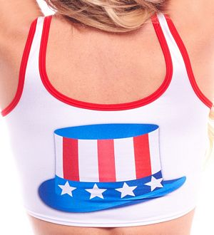 USA Crop Top