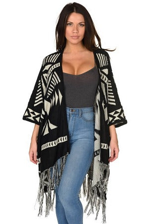 Black and White Aztec Wrap