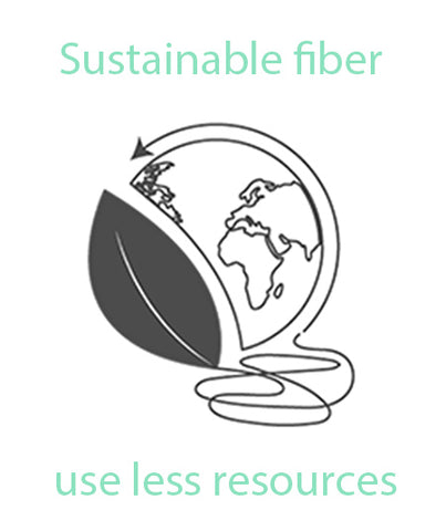 sustainable fabric means using less resources to produce, often using recycled raw materials