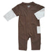 Basic Baseball Style Long Sleeve Coverall