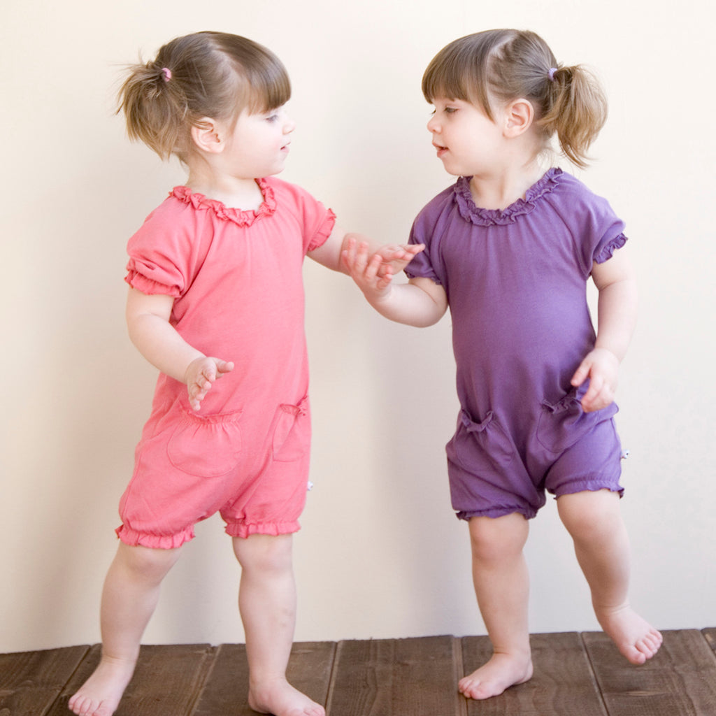 babysoy bubble short sleeve romper