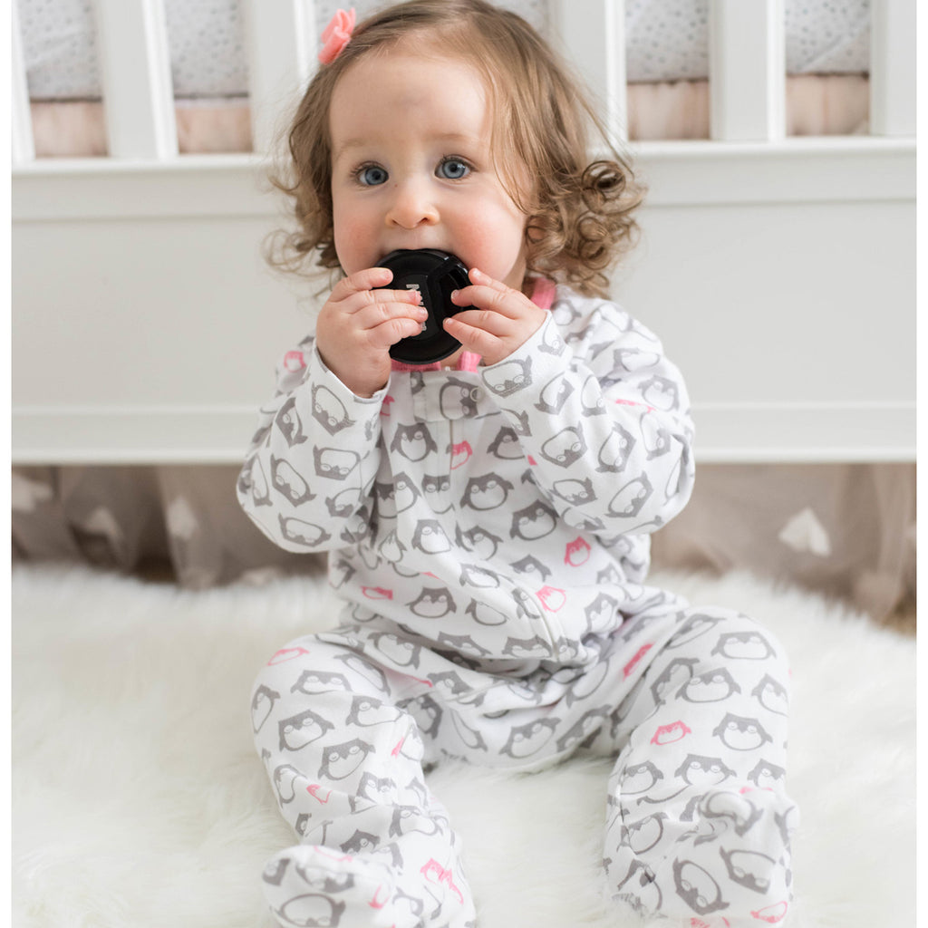 babysoy animal pattern print zipper footie coverall