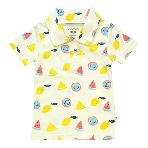 babysoy short sleeve polo tee