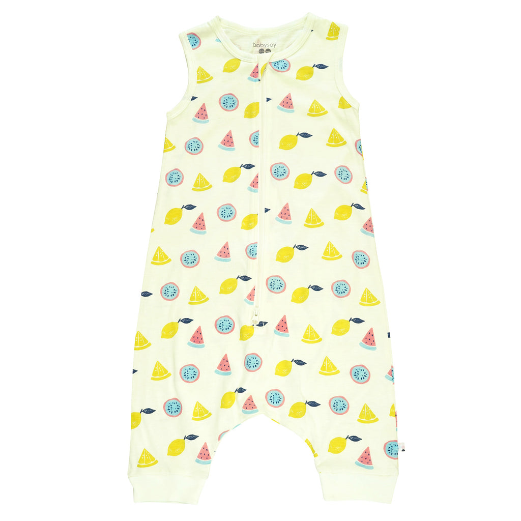 babysoy pattern print sleeveless walker sleep sacks