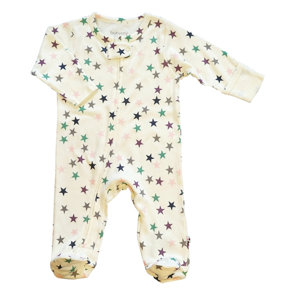 Star Zipper Footie