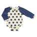 babysoy long sleeve baseball star bodysuit