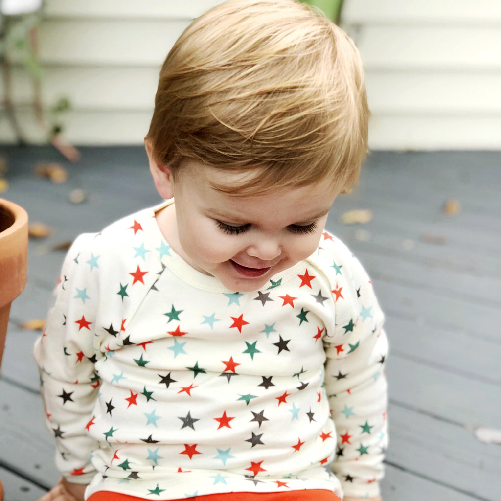 babysoy star pattern tees