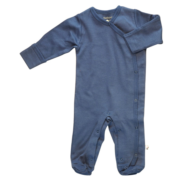 Modern Long Sleeve Solid Footie/coverall