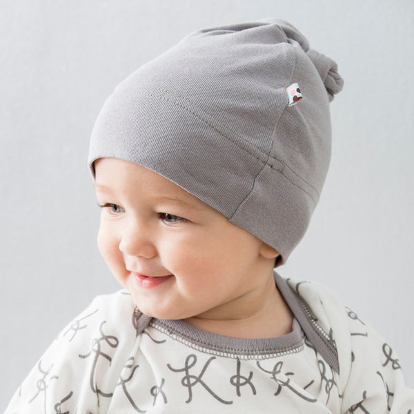 Babysoy Modern Solid Color Knot Beanie/hat