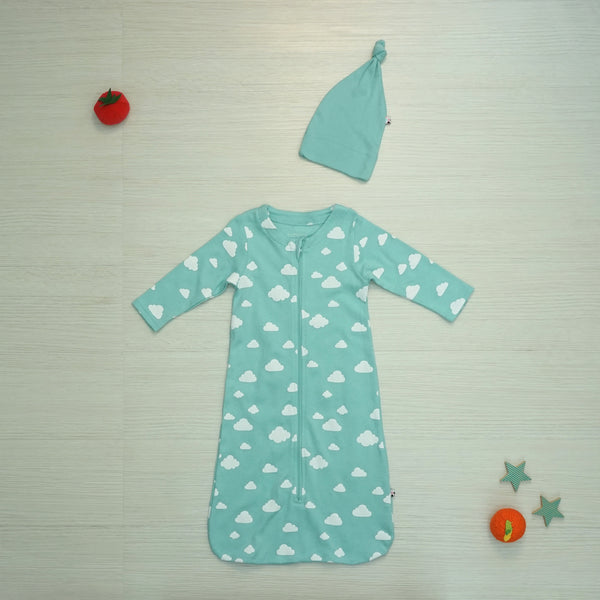 Babysoy Clouds Sleep Sac & Hats Set