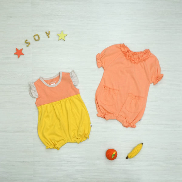 Babysoy Summer Fun Romper and Bodysuit Set