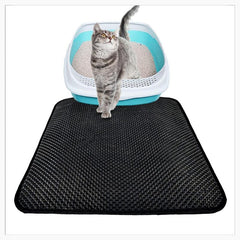 Animals & Pet Supplies > Pet Supplies > Cat Supplies > Cat Litter Box Mats - Double Layer Litter Trapping Mat - Cat Litter Mat